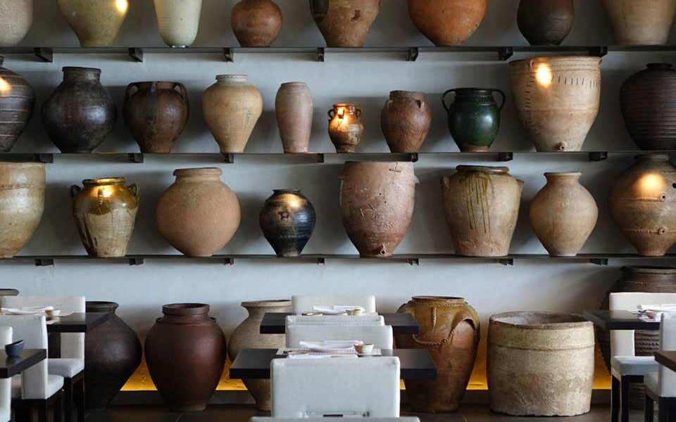 Collection of stone and pottery vessels