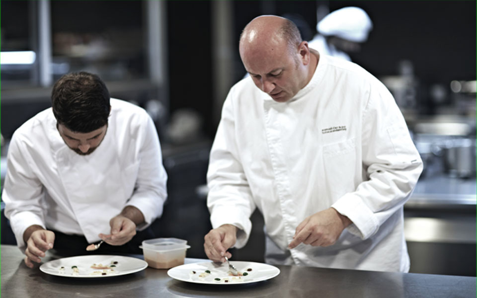 Chef  Tomeu Caldentey  and Andres Benítez