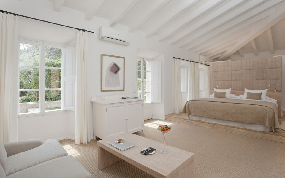 Beach House Guestroom, in the old Majorcan manor on the seafront
